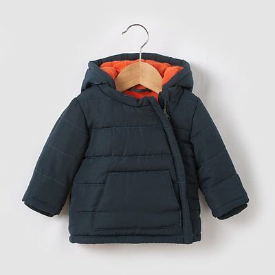 BABY BOYS FLEECE LINED PADDED JACKET NAVY AGE 6 MONTHS NEW (ref 360)