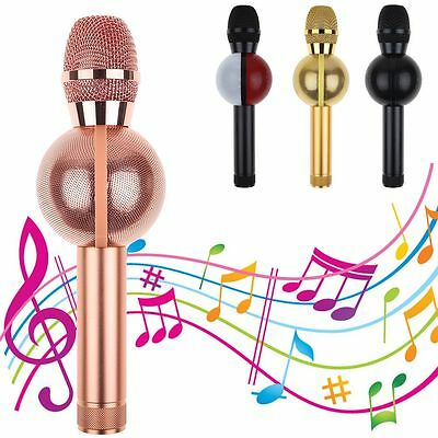 Wireless Karaoke Player KTV Microphone Bluetooth Mic Speaker for iPhone Samsung