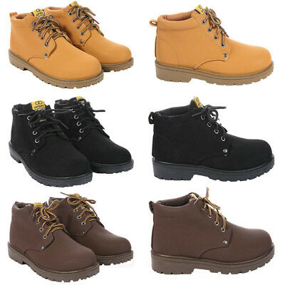Boys Kids New Casual Zip Lace Up Winter Walking Ankle Boots Trainers Shoes Size
