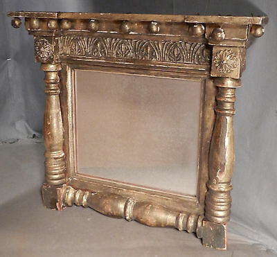 Antique Original Gold Leaf Period Empire Mirror make-Do Tabernacle Picture Frame