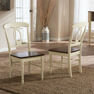 Napoleon Cottage Dining Chair in Cream (Set of 2)