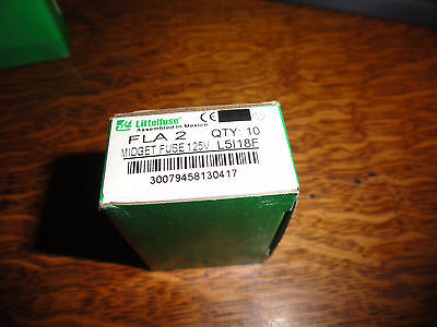 9 Littlefuse  FLA-2 2 A Fuses New partial box