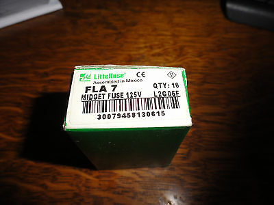10  Littlefuse  FLA-7  Fuses New full box
