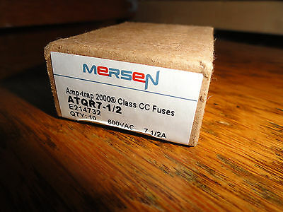 full box of 10 mersen ATQR 7 1/2  fuses Amp-trap 2000 7.5 amp ATQR7-1/2