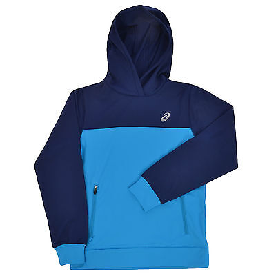 asics Boys Junior Over The Head Hoodie Hoody Pullover - Blue - 9/10 Years