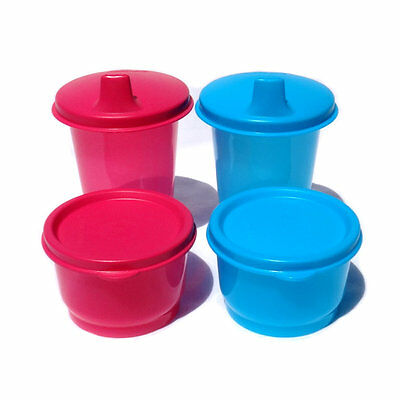 Tupperware Bell Tumbler Sippy seal Snack Cup Set Pick Pink OR Blue