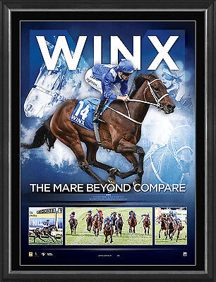 Winx Signed The Mare Beyond Compare L/E Print Framed Bowman Waller Cox Plate