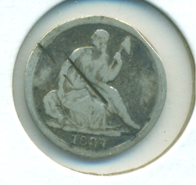 1837 Seated Liberty Half Dime Large Date