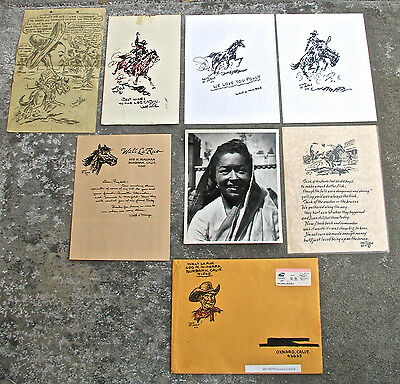 Walt LaRue Collection of Original Drawings and Letter