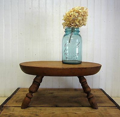 VINTAGE Wood FOOT STOOL step stool Table Riser Display Farmhouse Decor
