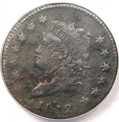 1812 Classic Liberty Large Cent 1C - ANACS VF35 Details - Rare Date Penny