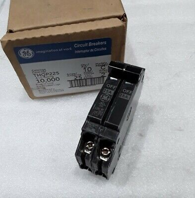 Thqp225 General Electric 2 Pole 25 Amps 240 Volts Circuit Breaker New!!