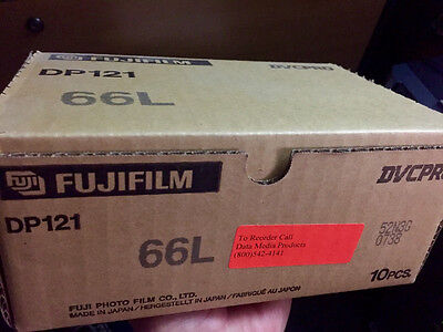 FUJIFILM DP121-66L DVCPRO 66-MINUTE VIDEO CASSETTE (LARGE) – LOT OF 10 New