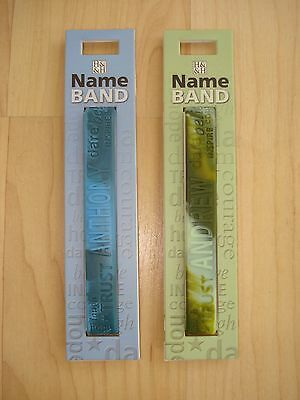 """History & Heraldry Rubber Personalised Wristband Boys Names Starting """"A"""" NEW"""