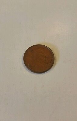 1973 JFK stamped Lincoln penny