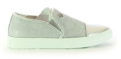 Armani Jeans scarpe donna argento sneakers all star 925195  35 36 37 38 39 40