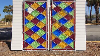 Large Antique Stained Glass Windows Vibrant Colors