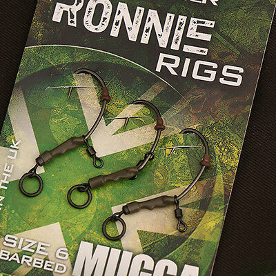 Gardner Ready Tied Ronnie Rigs  (3 Per Pack) PRE TIED SPINNER RIG FREE POST