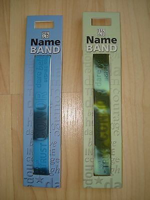 """History & Heraldry Rubber Personalised Wristband Boys Names Starting """"C"""" NEW"""