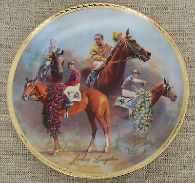 TRIPLE CROWN PLATE #2 - 4 signatures - by Fred Stone