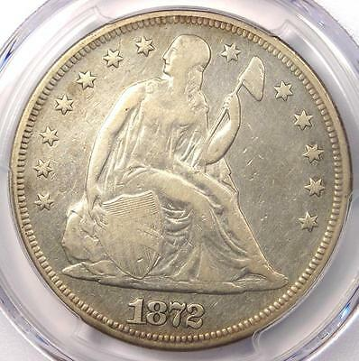1872 Seated Liberty Silver Dollar $1 - PCGS VF Details - Rare Certified Coin!