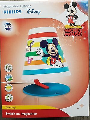 PHILIPS Micky Maus LED Tischleuchte Nachttisch  Mickey Mouse 717643016
