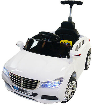 Mercedes 12v Battery Powered Electric Ride On Kids 2 - 5 Toy Car Remote RC White