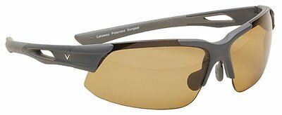 NEW Golf Callaway C80026 Brown Lens and Matte Gray Tip Peregrine Sunglasses