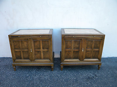 Pair of Mid-Century Modern Nightstands End Side Tables with Pull out Tray  5791