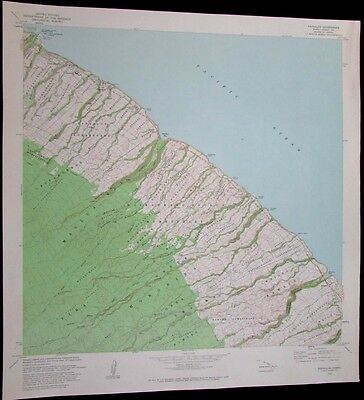 Papaaloa Hawaii Honohina Waikaumalo Maulua Homesteads 1981 old USGS Topo chart