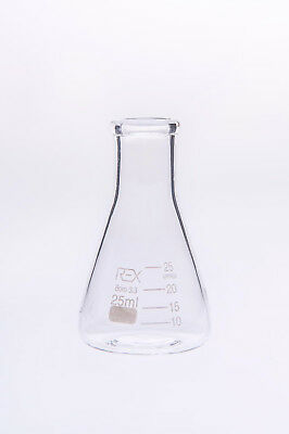 Conical Flask Erlenmeyer Laboratory Borosilicate Glass 50,100,250,500ml,1,2,3L