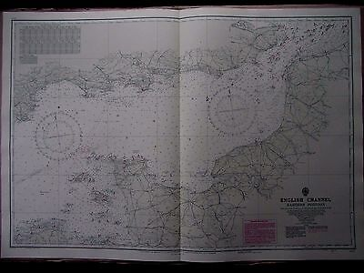 """1971 ENGLISH CHANNEL ISLANDS - Admiralty Navigation Sea Map Chart 28"""" x 41"""" A72"""