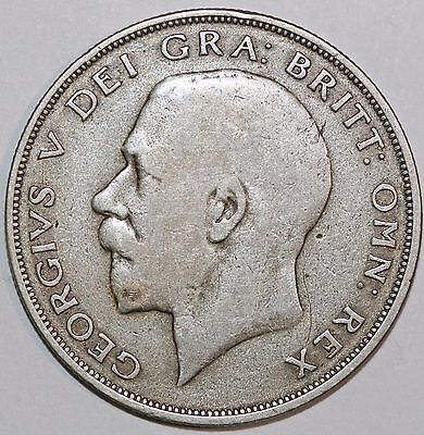 1922 Great Britain UK King George V Half 1/2 Crown Silver Coin KM# 818.1a