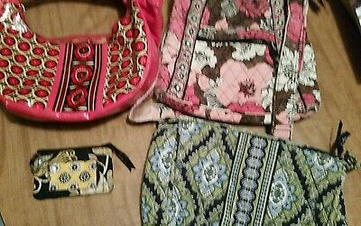 Vera Bradley Lot Of 4 Items For Craft/repairs Etc. Mixed Lot