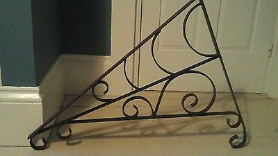 Antique Vintage Large Hand Forged Iron Sign Bracket Very Sturdy & Ornate