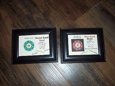$25 $10 $5 $ 1 Vintage Las Vegas clay poker chips framed and loose lot