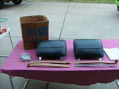 1968 Ford accessory head rest kit, black, NOS! Mustang Galaxie Torino, headrests