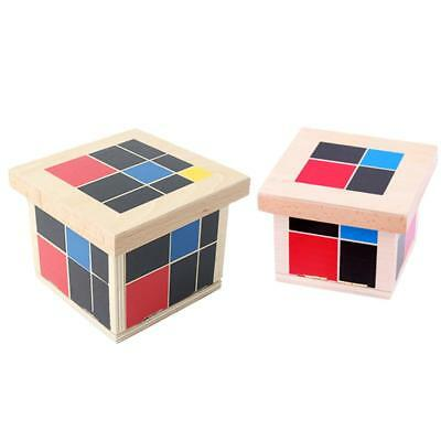 Wooden Montessori Trinomial & Binomial Cube Set Kids Early Educational Toy