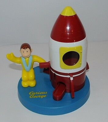 Curious George Space Rocketship Candy Gumball Dispenser Coin Operated 1999