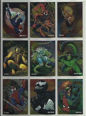 "1995 Ultra Spider-Man '95 GOLDEN WEB ""Complete Set"" of 9 Chase Cards (1-9)"