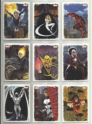 "2009 Spider-Man Archives ALLIES ""Complete Set"" of 9 Chase Cards (A1-A9)"