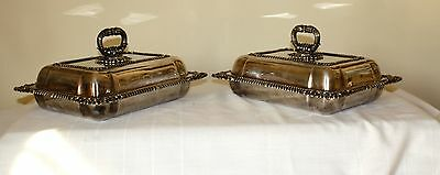 Georgian Old Sheffield or Rolled Plate Pair of Covered Dishes, circa 1820's
