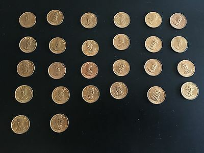 vintage set of 26 presidential coins (commemorative)