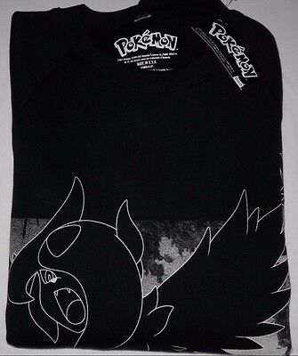 Original POKEMON unisex sweater long sleeve color black with tags made in USA