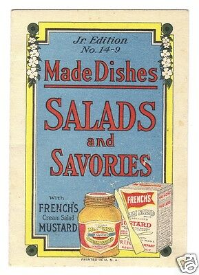 """French's Mustard Recipe Booklet """"Made Dishes Salads and Savories"""" Jr.Ed 14-9"""