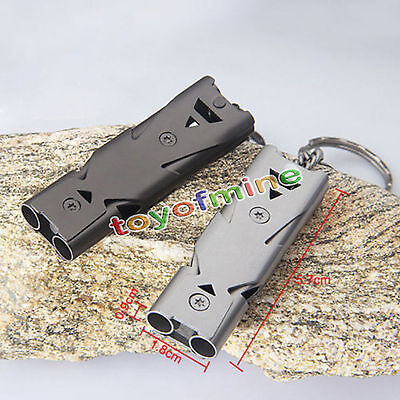 Outdoor Lifesaving Emergency Hiking Survival Stainless Steel Whistle 150 Decibel