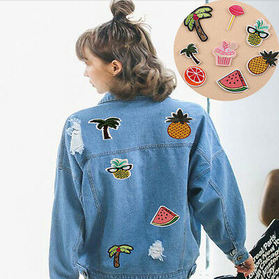 8pcs Lots Embroidery Sew Iron On Patches Badge Jeans Dress DIY Applique Craft