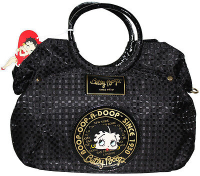 BETTY BOOP Licensed Handbag Woven Design BLACK (NEW with Tag) U.S. Seller