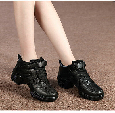 Womens Modern Jazz Hip Hop Dance Shoes High Ankle Dancing Training Sneaker Boots