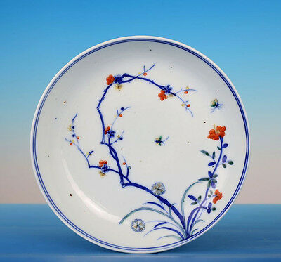 Rare Antique Blue And White Chinese Porcelain Plate Qing Dynasty FA094